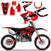 Yamaha YZ125 YZ250 Graphic Kit Dirt bike YZ 125 250 Deco 2002-2014 HURRICANE RED