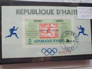 Haiti 1969 Winners of Olympic Marathon MS, used