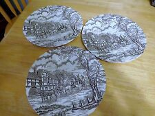 ROYAL MAIL VINTAGE  BROWN STAFFORDSHIRE IRONSTONE PLATES, HAND GRAVED-ENGLAND