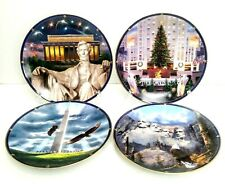 Rudi Reichardt Spirit Of Amercia Collector Plates Danbury Mint Set 4 Patriotic