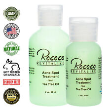 All Natural Acne Spot Treatment with Tea Tree Oil - Blemish Pimple Control