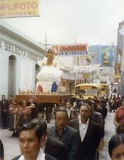 Photo. 1970s. Quetzaltenango, Guatemala. Religious Celebration Procession