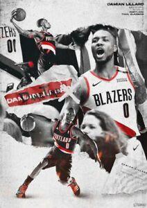 DAMIAN LILLARD NBA Poster Wall Art Home Photo Print 24 x 30 inch 3