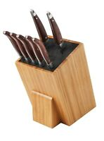Messerblock Universal Messerhalter aus Holz mit Borsteneinsatz XXL Sehr Groß Bam