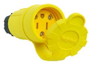 Pass & Seymour 15A, 125V, Yellow, Watertight Connector