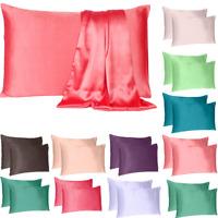 Satin Silk Pillowcase Luxurious Standard Queen King Home Sofa Bedding Cover Case