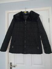 Ladies Black Padded Coat – Coats Club Size 14–16