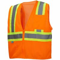 Pyramex Class 2 Reflective Two-Tone Safety Vest, Orange