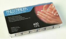 Millennium Professional Nail Tips - 400 Box - FRENCH WHITE - Sizes 1-10