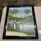 """H. Hargrove Framed Golf Painting/City Background (24"""" X 28"""")"""