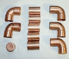"1 1/2"" copper fittings.Lot of 11- 1 ½"" solder on standard plumbing fittings."