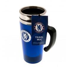Chelsea FC Official Crested 450ml Aluminium Travel Mug Present Gift