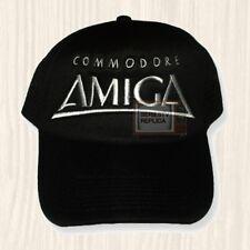 Commodore Amiga Logo Trucker Hat Vintage Computer Console 64 Cap Embroidered