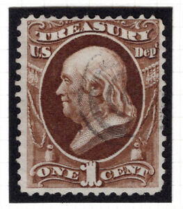 USA United States TREASURY Revenue 1c Stamp USED - BULLSEYE CANCEL