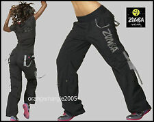 ZUMBA CARGO Pants UK London Harrods CONVERTS TO CAPRI w SNAP on LEGS-XS S M L XL