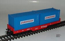 """Märklin 44451 HO Wagon transport de conteneurs DB Cargo """"Eurotrain"""" 4 essieux #"""