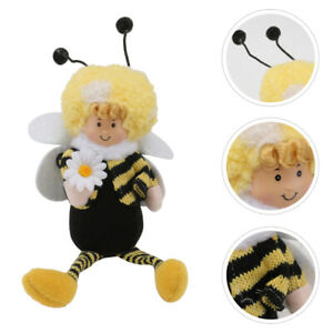 1pc Knitted Bee Plaything Lovely Cartoon Bee Toy Kids Bee Styled Plush Toy