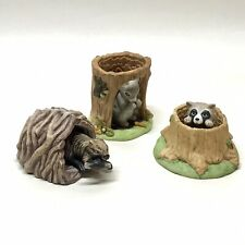 Woodland Surprises Franklin Porcelain Collectible Lot, 3 Pieces