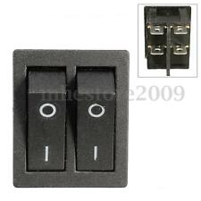 2 Way 6 Pin ON/OFF Toggle Double SPST Rocker Switch Car Truck Boat Auto 250V 15A