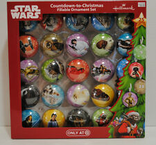 Hallmark Star Wars 25 Fillable Hanging Christmas Advent Countdown Ornaments New