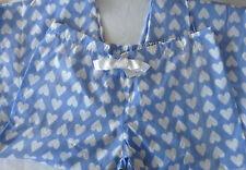 Ladies Pyjamas Lounge Pants BLUE HEART 100% COTTON *all sizes* PJs Bottoms BNWOT