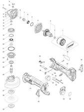 """NEU Original Makita DGA454RMEX DGA454Z DGA454ZX1 4-1/2"""" Grinder 18V Repair Parts"""