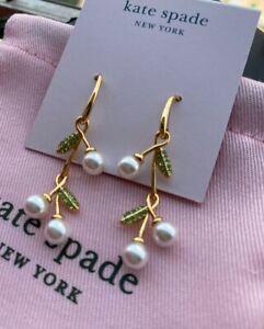 Kate Spade New York Cherie Cherry Linear Earrings