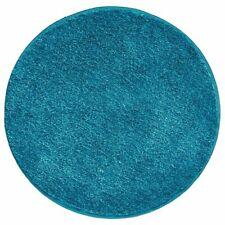 "mDesign Microfiber Accent Rug Mat/Runner, 24"" Diameter - Heather Teal Blue"