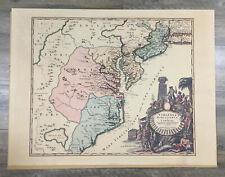 Map Virginia, Marylandia et Carolina in America Septentrionali Britannorum