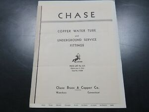 1936 Chase Brass Copper Chrome Letterhead And Pricing Catalog S315