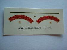 DECALS KIT 1/12 HELMET CASCO JACKIE STEWART MATRA F1 FDS AUTOMODELLI