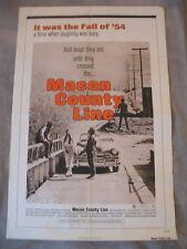 MACON COUNTY LINE 1974 Max Baer Jr Car Racing Sheriff  One Sheet Poster VG+ C6