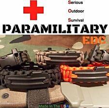 Paracord EDC Survival Bracelet / 550 Fire cord / Whistle / Flint Fire Rod / P-51