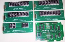 Brand New DIS079 7 Digit display board set for Williams Sys 7-9 pinball machines
