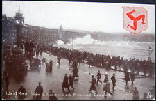 UK~ENGLAND ~1907 ISLE OF MAN ~ STORM IN SUMMER LOCH ~ PROMENADE DOUGLAS