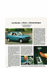 PUBLICITE  1978   HONDA  CIVIC   automatique