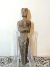 Antique Wood Figure statuette,mother godess,fertility,idol,god,alien