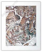 Affiche Hermann 01 Le tours du Bois Maury 100ex signé 43x54 cm