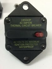 PANEL MOUNTED SWITCHABLE THERMAL CIRCUIT BREAKER 40A 42V DC 185040P WATERPROOF