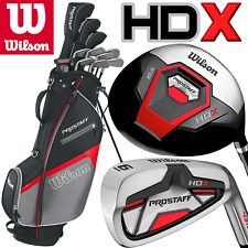 """NEW 2018"" WILSON PROSTAFF HDX MENS COMPLETE GOLF SET + STAND BAG +FREE GIFT !!"