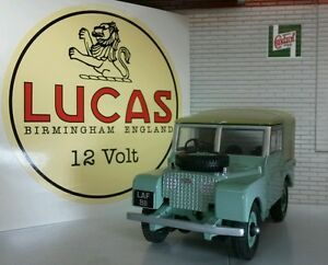 Land Rover Series 1 80 86 107 88 109 2 2a Lucas Lion Period Battery Cream Decal