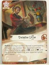 Legend of the Five Rings LCG - 1x #079 Deceptive Offer - The Ebb and Flow