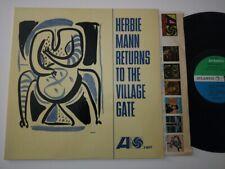 HERBIE MANN LP RETURNS TO THE VILLAGE GATE 1963 ATLANTIC SD1407 1ST PRESS PITMAN