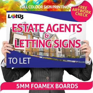 FOAMEX Sign Board for Estate Agents & Driveways Digitally Printed