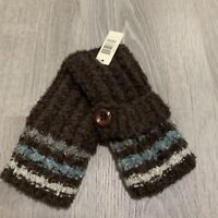 Simply Noelle Womens Fingerless Gloves One Size Brown Casual Warm New T60