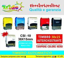 Timbro automatico  personalizzato  15x38  autoinchiostrante