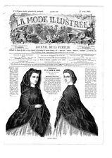 Civil war era MODE ILLUSTREE SEWING PATTERN April 27,1863 - Paletots