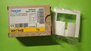 Hager WK794B KALLYSTA - Enjoliveur Blanc pour Interrupteur Automatique kallysta