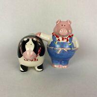 Vintage Barnyard Pig And Cow Salt & Pepper Shakers Russ Farm Kitchen Decor