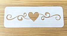 Face paint stencil reusable washable heart swirl 190 Mylar glitter henna tattoo